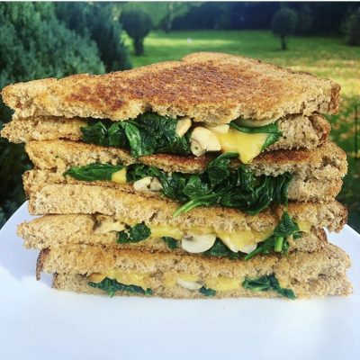 Applewood® Vegan Cheezy Mushroom and Spinach Toastie